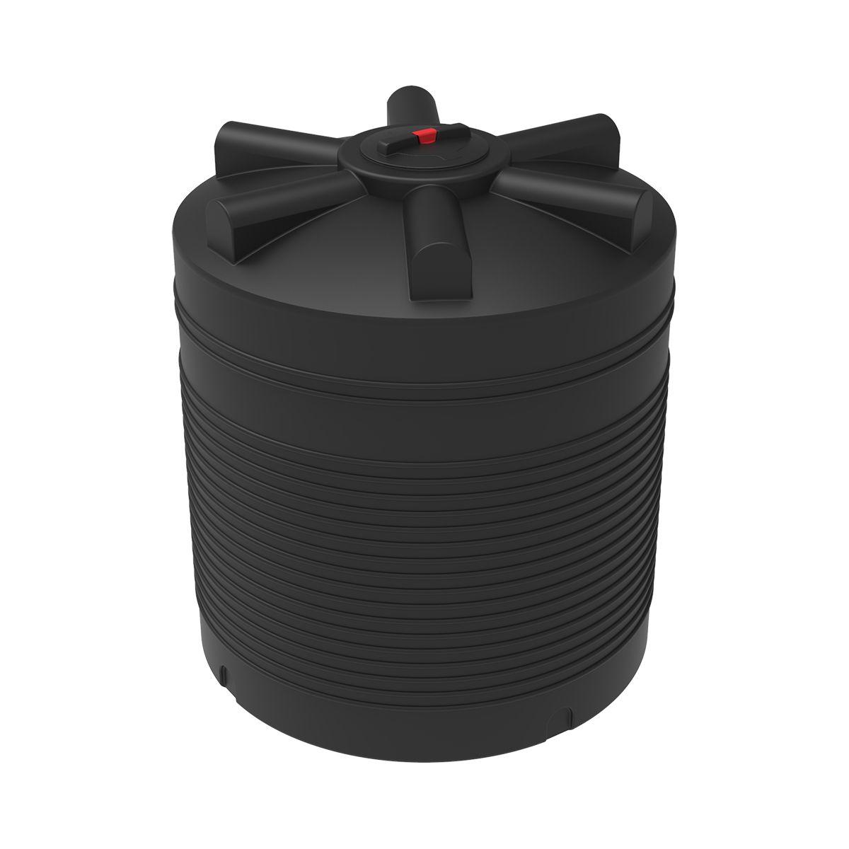 Бак для воды 2000 литров ЭВЛ черный пластиковый