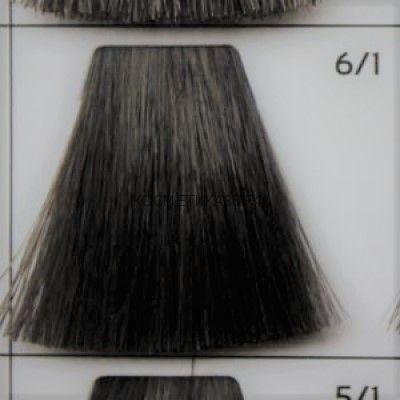 Крем краска для волос 6/1 Тёмно русый пепельный 100 мл.  Galacticos Professional Metropolis Color