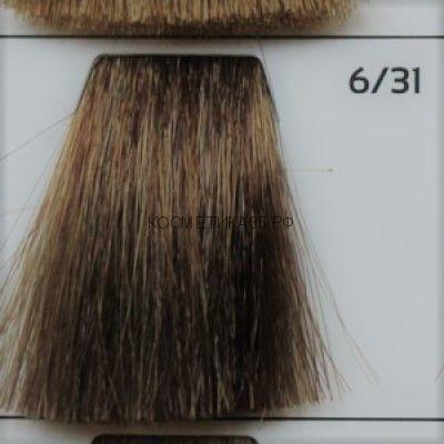 Крем краска для волос 6/31 Тёмно русый золотисто-пепельный 100 мл.  Galacticos Professional Metropolis Color