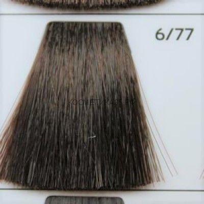 Крем краска для волос 6/77 Тёмно русый интенсивно-коричневый 100 мл.  Galacticos Professional Metropolis Color