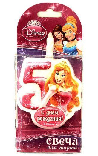 Свеча для торта цифра 5 «Принцесса»