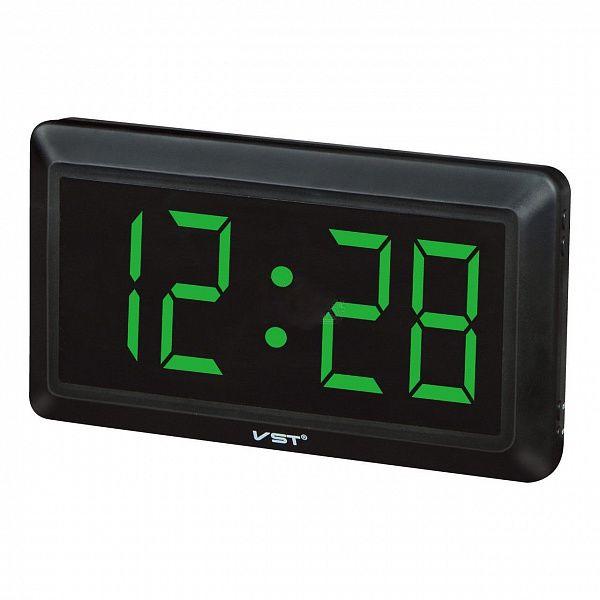 Часы эл. VST780-4 зел.цифры