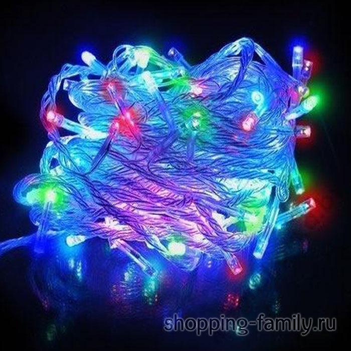 Светодиодная гирлянда 100 LED 8м. Цвет Разноцветный