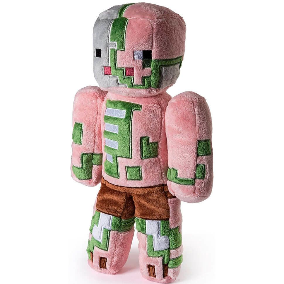 Плюшевый Зомби свиночеловек Zombie Pigman 18 см