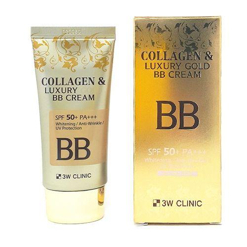 "BB крем с КОЛЛАГЕН/ЗОЛОТО 3W CLINIC  ""Collagen&Luxury Gold"""