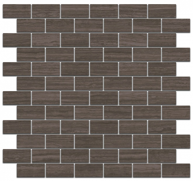 MM13040 | Декор Грасси коричневый мозаичный