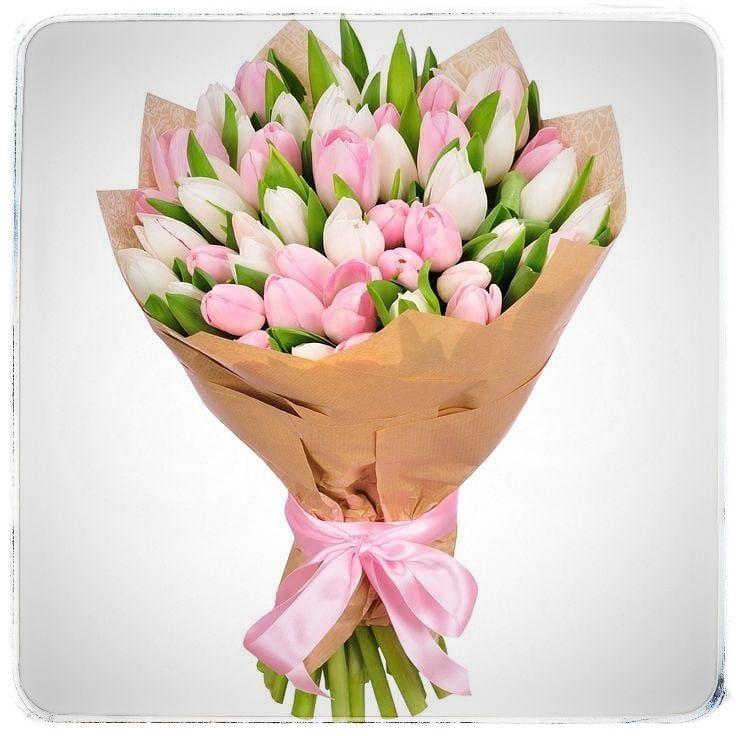 Букет из тюльпанов 51шт