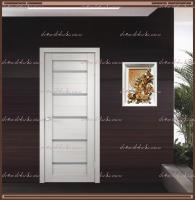 Межкомнатная дверь DUPLEX  Дуб белый, стекло - Мателюкс :