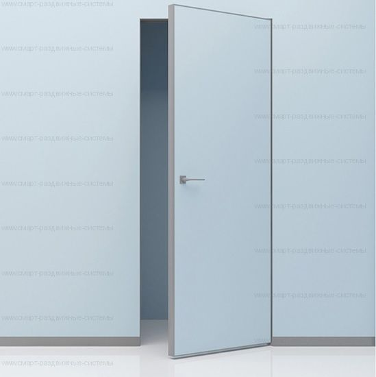 Скрытая дверь полотно на АЛЮМИНИЕВОМ каркасе НАРУЖНОГО открывания. Высота от 2000 до 2700 в наличии!