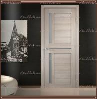 Межкомнатная дверь DUPLEX 3 Капучино, стекло - Мателюкс :