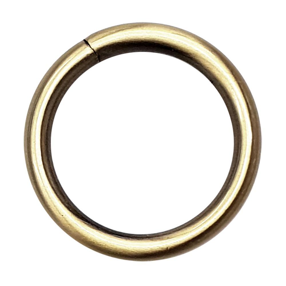 Кольцо литое 25 мм полированный антик