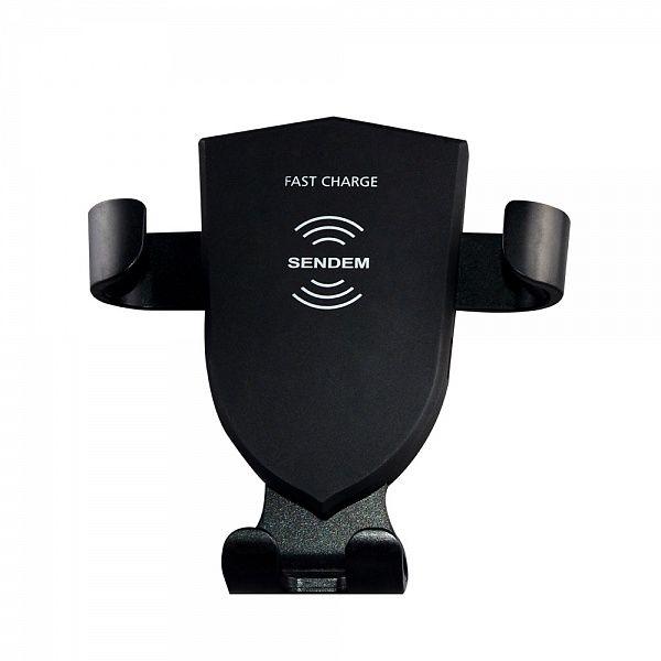 Держатель для смартфонов + беспроводное ЗУ SENDEM W5