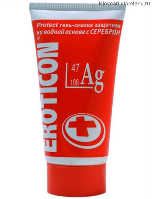 ГЕЛЬ-СМАЗКА Eroticon Ag защитная, с серебром, 50 мл