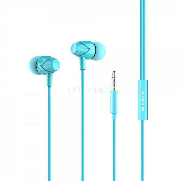 SENDEM X27 Синие наушники вакуум - гарнитура *1