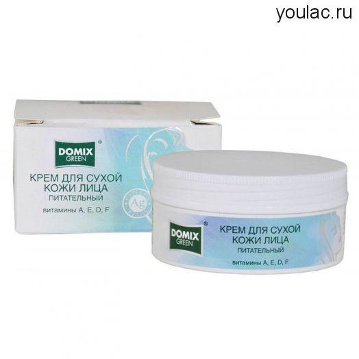 Domix Green Крем для сухой кожи лица,питательный, витамины A,E,D,F,  75 мл