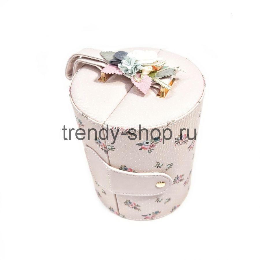 Шкатулка-кейс для ювелирных изделий Цилиндр, 14х17 см