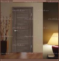 Межкомнатная дверь LINEA 1  Дуб Шале Корица, стекло - Мателюкс :