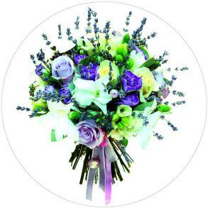Вышивка крестиком «Букет с розами» 28x28.