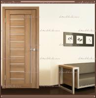 Межкомнатная дверь LINEA 3  Дуб золотой, стекло - Мателюкс :