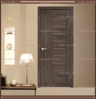 Межкомнатная дверь LINEA 3  Дуб Шале Корица, стекло - Мателюкс :