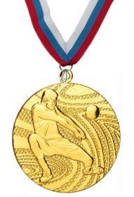 Медаль баскетбол наградная с лентой 1 место 40 мм