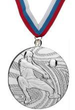 Медаль баскетбол наградная с лентой 2 место 40 мм