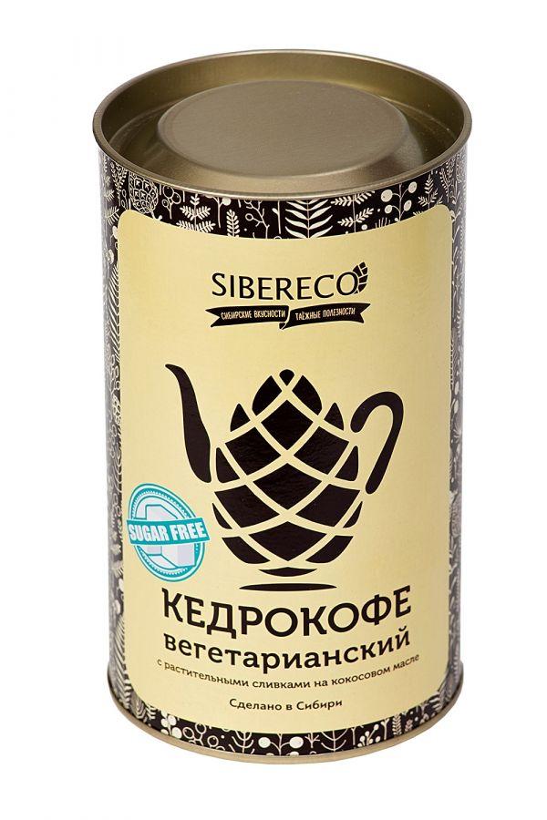 Кедрокофе Вегетарианский на растительных сливках без сахара 500г