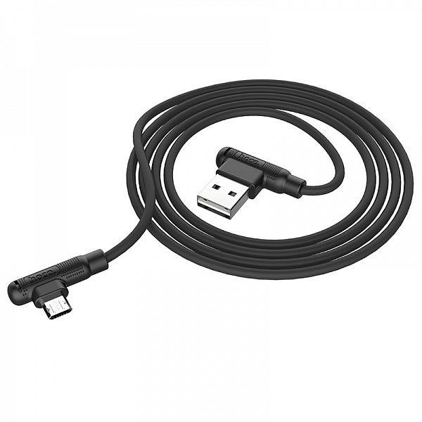 Кабель USB 2.4А HOCO X46 Черный (microUSB) 1м