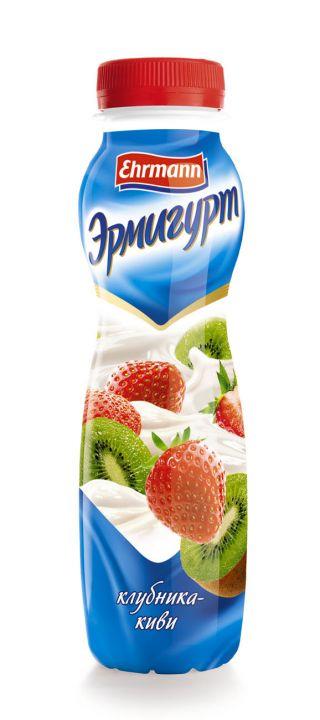 Напиток йогуртный Эрмигурт 1.2% питьевой  клубника/киви 290гр. Эрманн