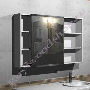 """Шкаф с раздвижным зеркалом для ванной  """"Глосси-С Комби"""