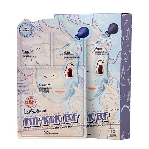 [Elizavecca] Набор/Маска  трехэтап. ОМОЛАЖИВАЮЩАЯ Anti-Aging EGF Aqua Mask Pack, 10 шт