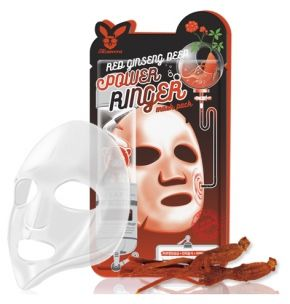 Elizavecca Тканевая маска для лица с Красным Женьшенем RED gInseng DEEP PQWER Ringer mask pack, 23мл 1 шт.