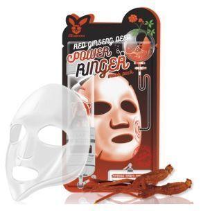 Elizavecca Тканевая маска для лица с Красным Женьшенем RED gInseng DEEP PQWER Ringer mask pack, 23мл 1 шт.