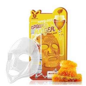 [Elizavecca] НАБОР/Тканевая маска д/лица Медовая Honey DEEP POWER Ringer mask pack, 10 шт