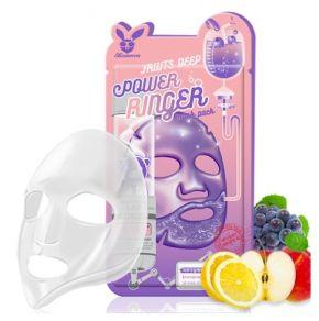 Тканевая маска для лица Фруктовая Elizavecca  FRUITS DEEP POWER Ringer mask pack, 1шт