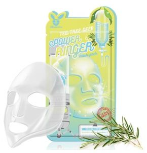 Тканевая маска для лица Чайное Дерево Elizavecca TEA TREE DEEP POWER Ringer mask pack, 1шт
