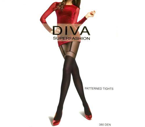 Женские колготки Diva Black 380 Den DK66