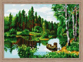 Алмазная мозаика «Лесной пейзаж» 30x40 см
