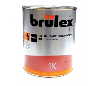 Brulex Серый 1K- Грунт-наполнитель, 1л