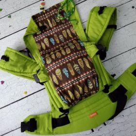 Эрго рюкзак Гусленок СТАНДАРТ ЭКСКЛЮЗИВ - Дизайн 3100 зеленое яблоко