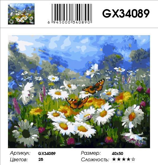 Картина по номерам на холсте GX34089