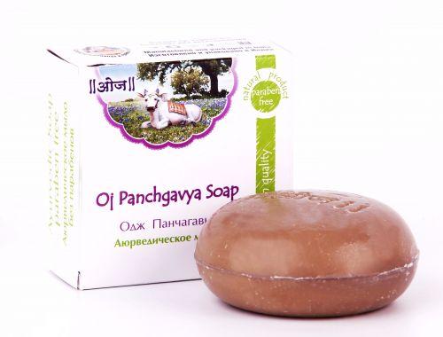 Мыло аюрведическое терапевтическое Одж Панчагавья | 100 г | Oj Panchgavya Soap