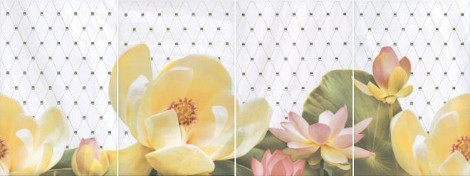 HGD/A56/4x/8259 | Панно Летний сад светлый