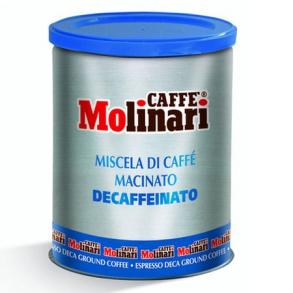 Кофе молотый Decaff  Molinari 5*  ж/б 250 гр.