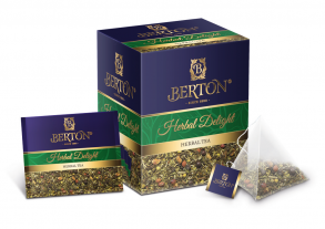 Чай Berton пакетированный в шелковых пирамидках Травяное Удовольствие 20 пак./1уп.