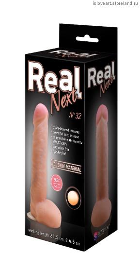 Фаллоимитатор неоскин на присоске REAL Next № 32