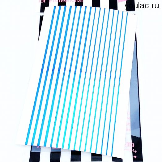 Гибкая лента , металлическая коллекция  ( голубой металл)