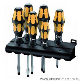 Набор отверток Kraftform Wera: отвертка-резец + подставка 932/918/6 арт 018287