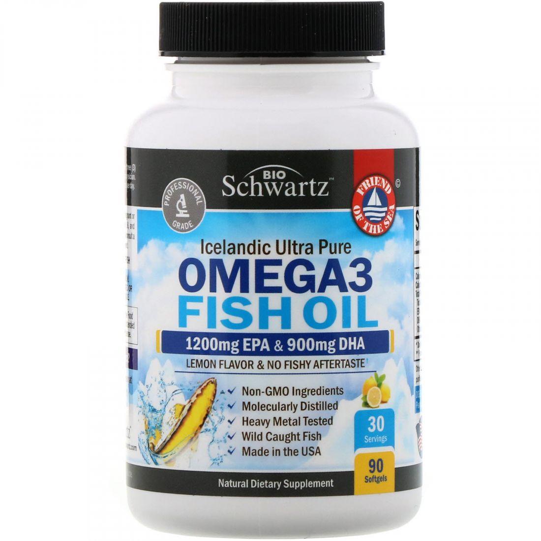 Omega 3 Fish Oil, 90 капсул