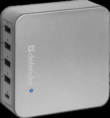 Распродажа!!! Сетевой адаптер UPA-50 4 порта USB + Type C, 5V / 8A